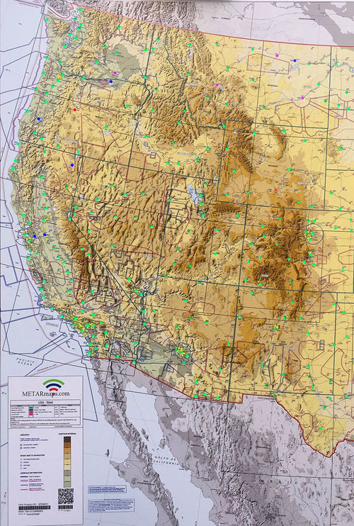 USA West — METARmaps™ - Aviation Sectional LED METAR Maps
