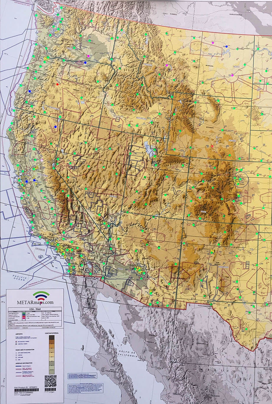 Map Of Usa Images.Usa West Metarmaps Aviation Sectional Led Metar Maps