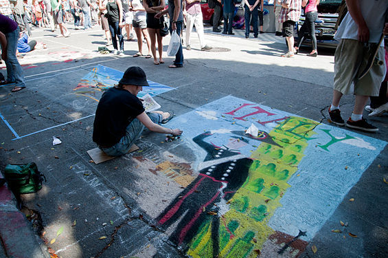 Artistic expression is encouraged for all ages! Photo Credit SF Weekly