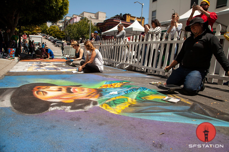 Chalk Art Photo By Cheryl Guerrero for SF Station NB Festival 2018