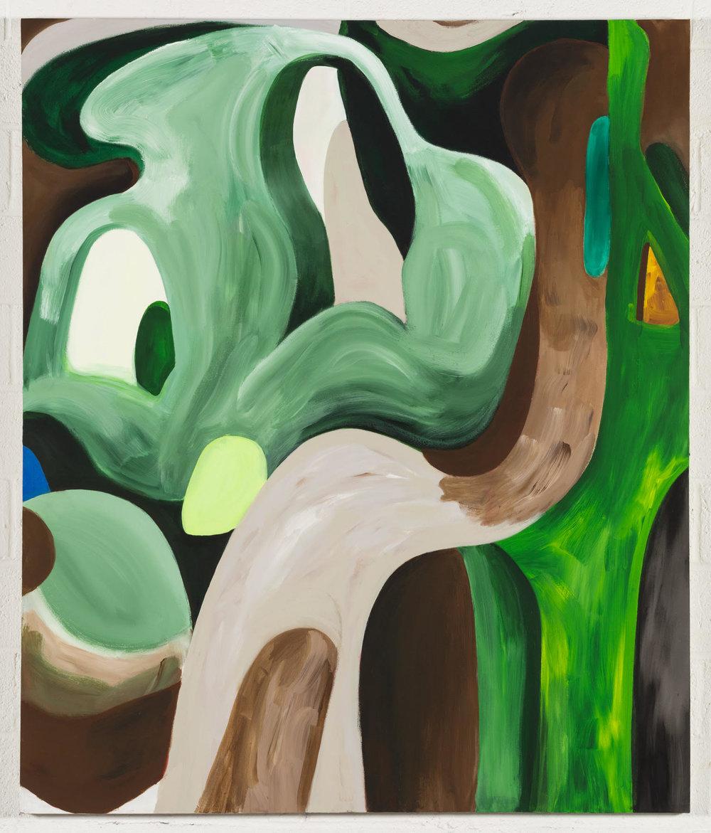 "Mamushi  2019  Acrylic on canvas  75"" x 63"""