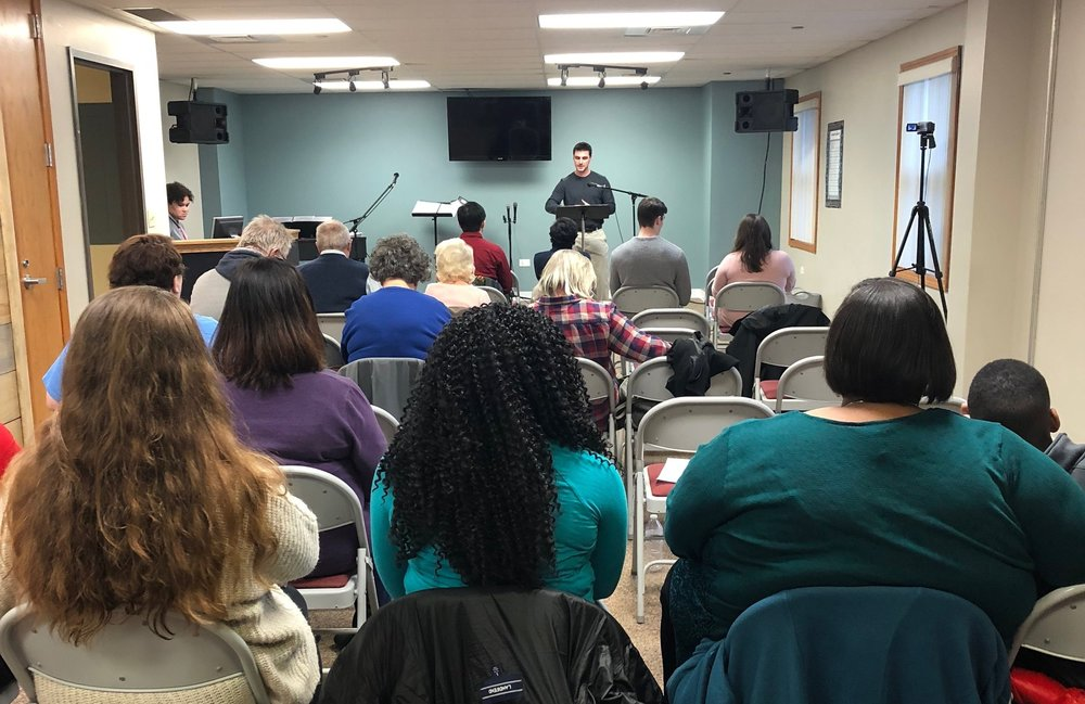 Christ Centered Community - Our worship service is on Saturday evenings at 5pm. We are a diverse group of believers united by our shared faith in a loving God. Our Saturday evening service consists of songs that align with the preaching of God's word. Pastor Sam delivers messages that are both, encouraging and convicting, and all based in scripture. We partake in communion once a month.