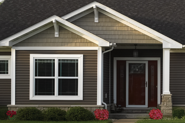 premium vinyl siding - Our vinyl siding offers consistent quality, is virtually maintenance-free and is the ideal choice for homeowners looking for value with the benefits of a premium panel. Comes in natural woodgrain or brushed appearance.