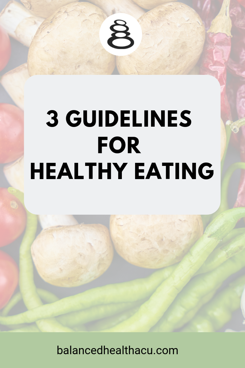 I don't believe there is one perfect diet for everyone but I do believe that following a few guidelines can make a big difference when it comes to food choices, eating healthy and feeling great. Check out my guidelines for healthy eating here!