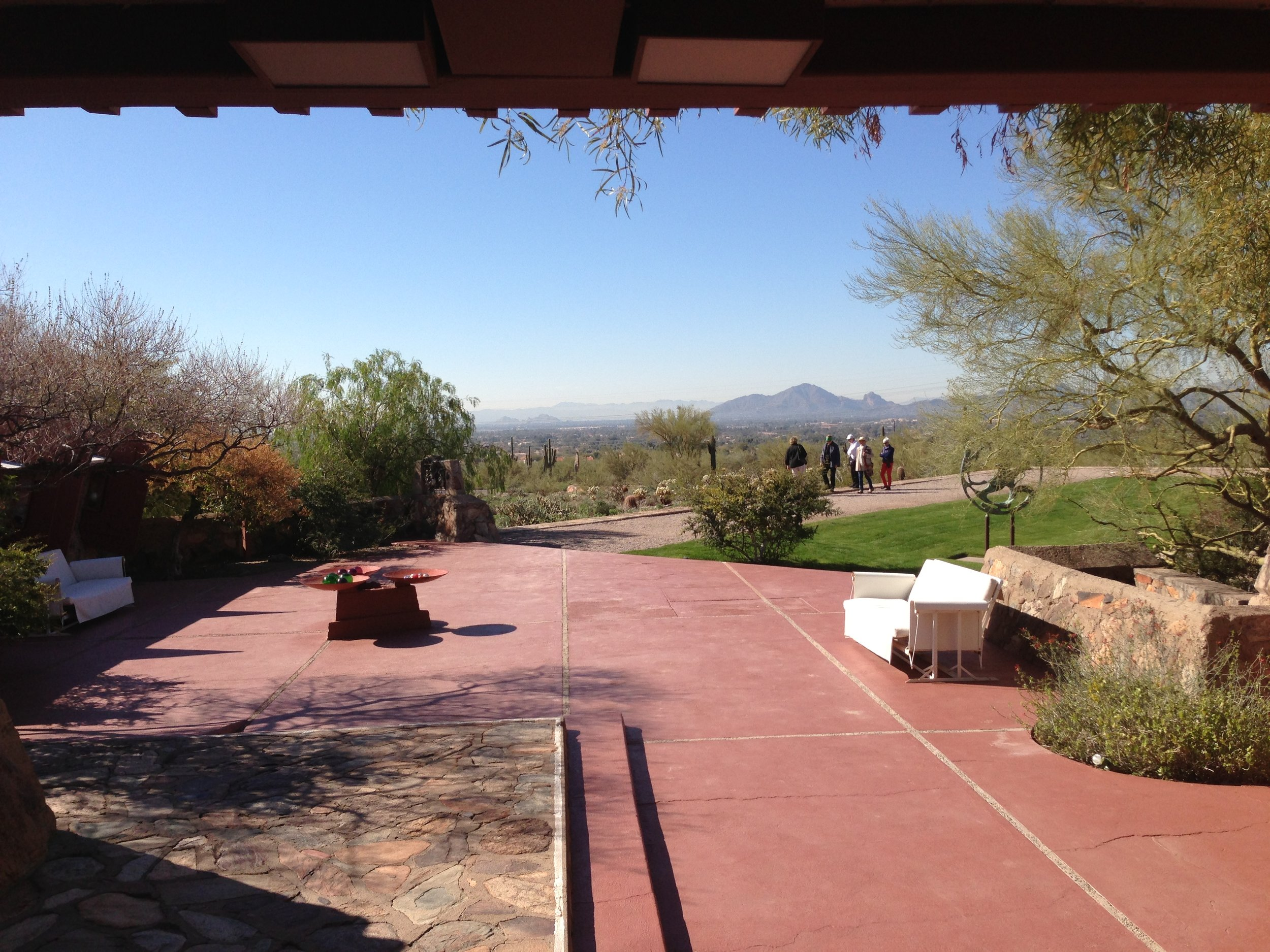 The terrace offers a sweeping vista of the Sonoran desert and opportunities for all types of events.