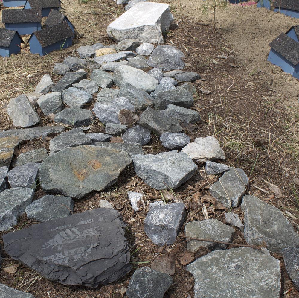 Land art installation @  FIELD WORK, Maberly 2015