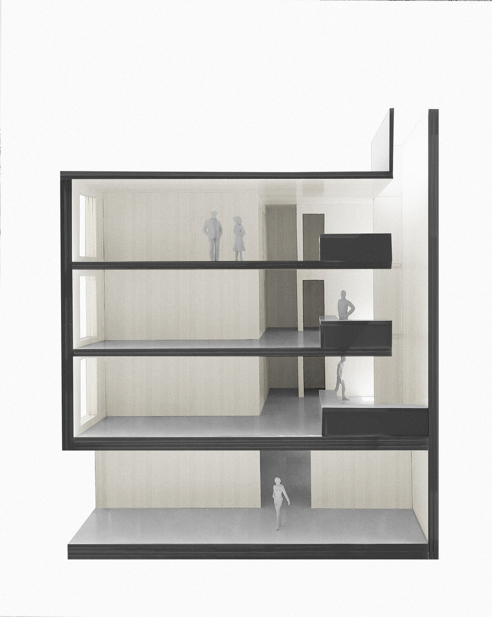 Sectional Model with Lightwell