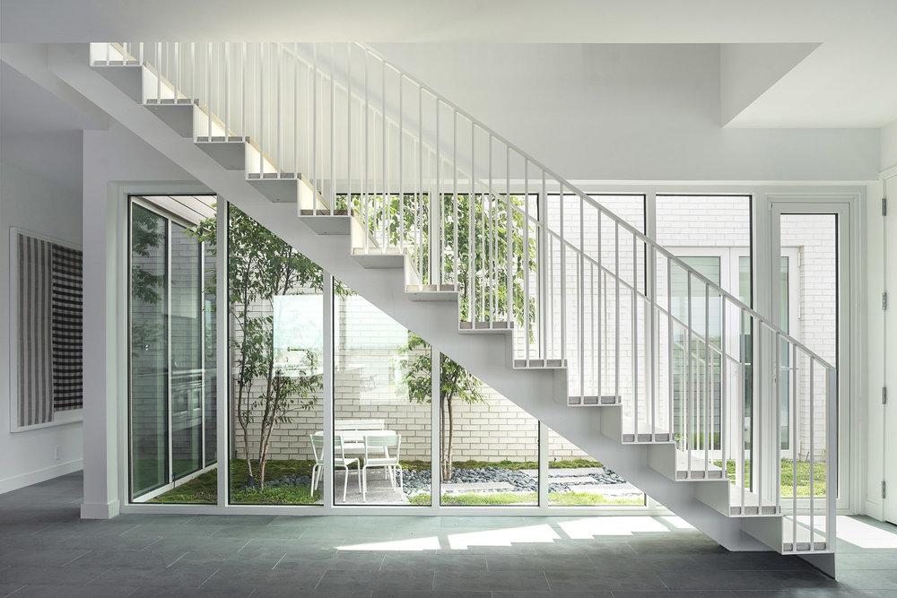 Stairwell and Interior Garden