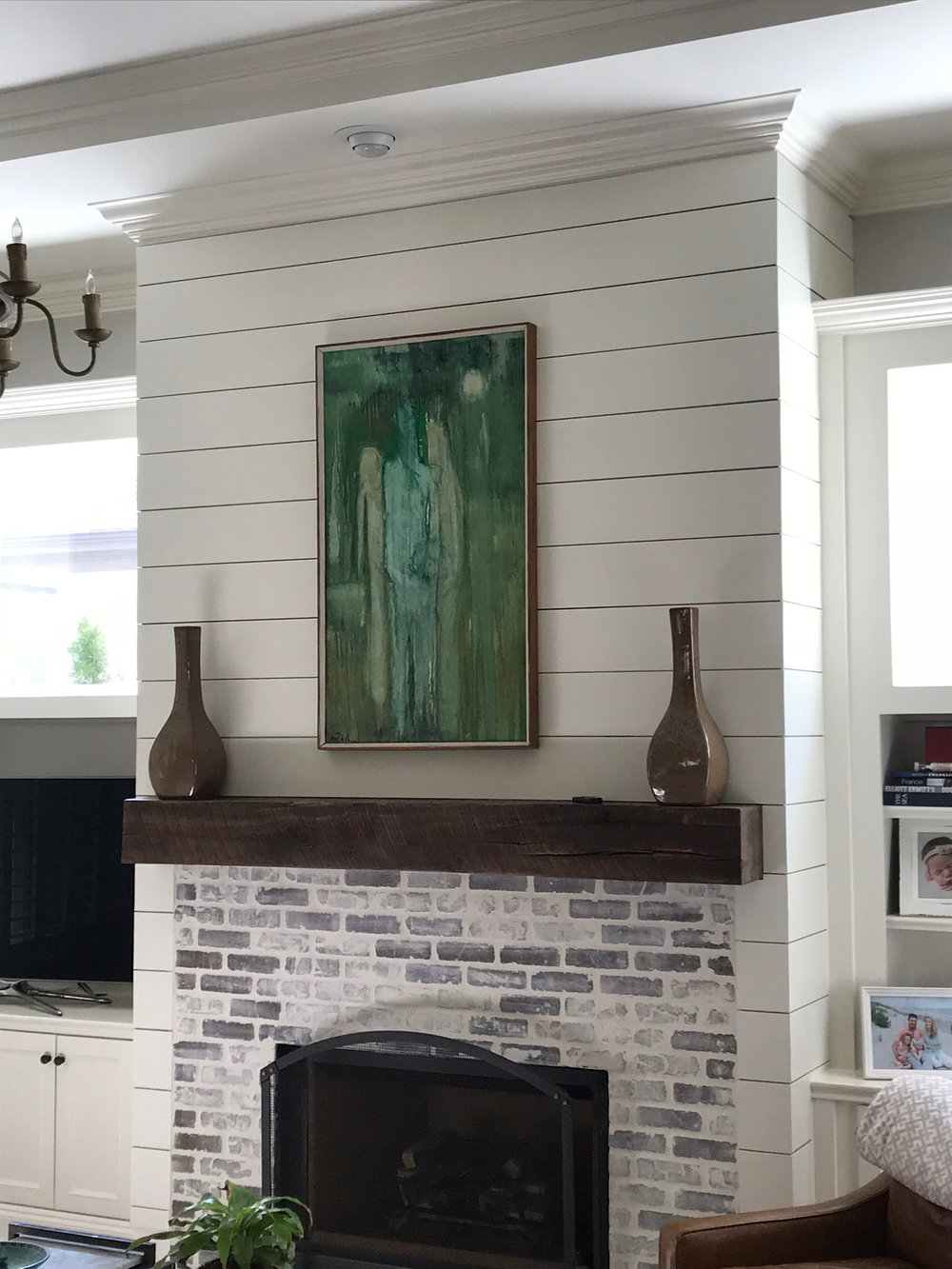 Mantels by Good Wood - We carry dozens of options of reclaimed beams that you can use to give your mantel a custom, one of a kind look. Browse our lumber store in person to select a finished piece, or choose something raw from the lumber store and finish it at home.