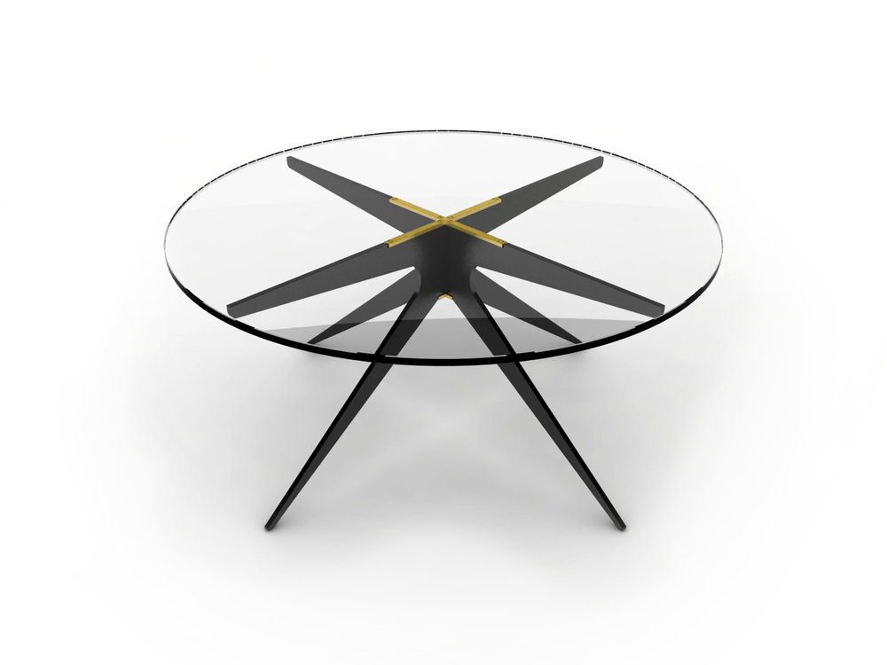 DEAN Round Coffee Table - Black: Clear.jpg