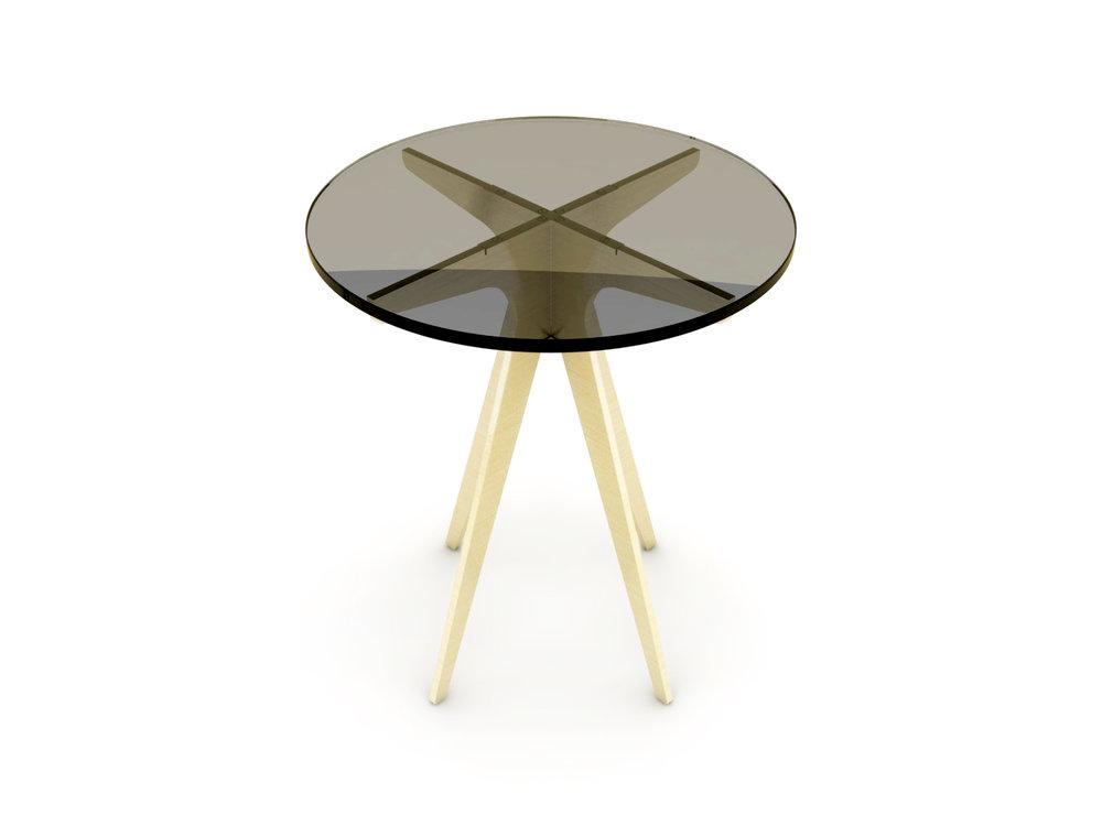 DEAN Round Side Table - Brass: Bronzed.jpg
