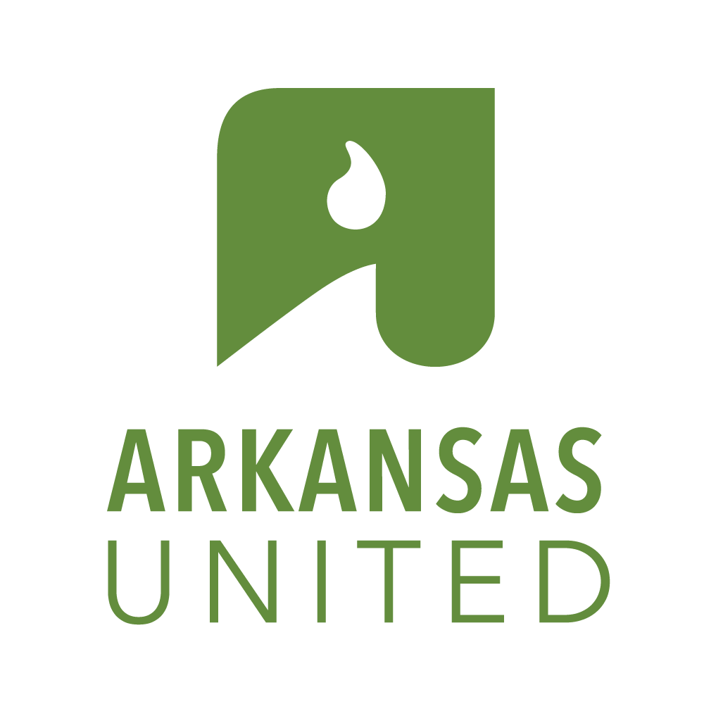 ARKANSAS UNITED - Logotype, symbol, logo, website, business cards, email templates, event branding, rack cards, social media icons, banners and signage.https://arkansasunited.org/