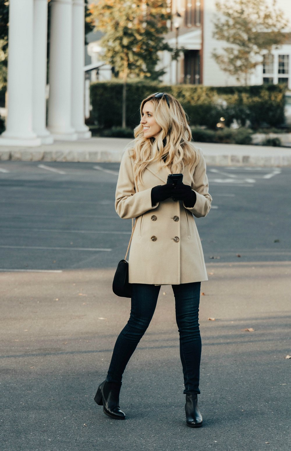 CAMEL COAT - A sophisticated and classic color combo is camel and black. The color alone screams fall. Having a camel coat like this one from Hello Gorgeous Consignment Boutique is the absolute number one essential to have.