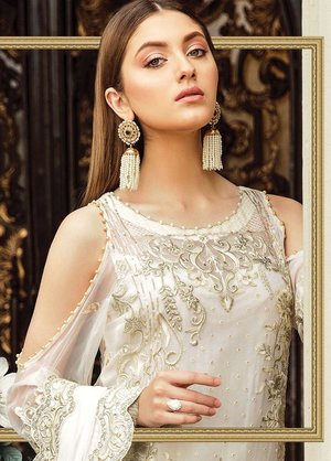 79d8c70566 Original Afrozeh Embroidered Chiffon Unstitched 3 Piece Suit OCEAN PEARL - Luxury  Collection Pakistani Designers ...
