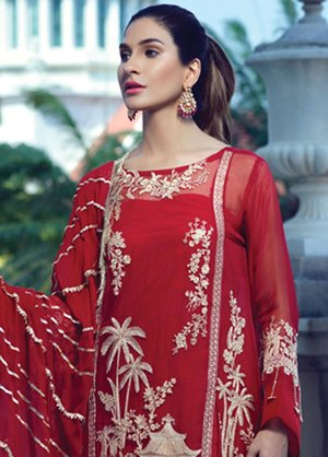 489b54fe69 Orignal Rang Rasiya Embroidered Chiffon Unstitched 3 Piece Suit 5018 - Eid  Collection ...