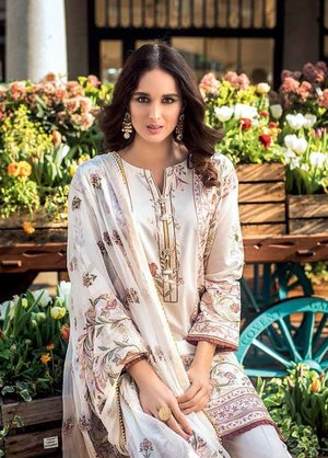 5480ef2274 Gul Ahmed Embroidered Cotton Silk Unstitched 3 Piece Suit GA19E FE-179 - Eid  Collection