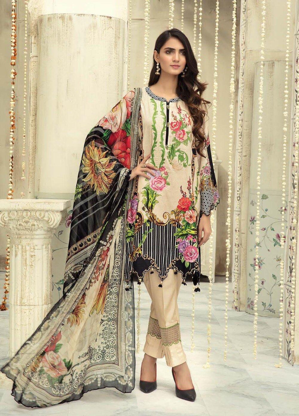 Pakistani unstitch 3pc Linen shalwar kameez suit winter collection for women