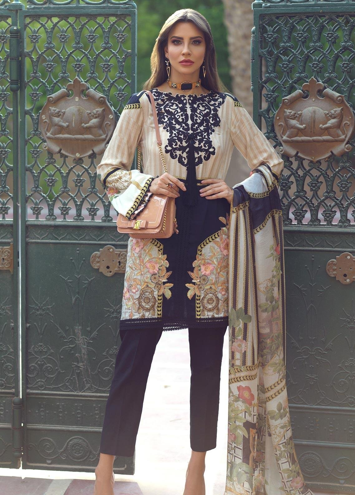 pakistani viscose 3 pcs suit stitched