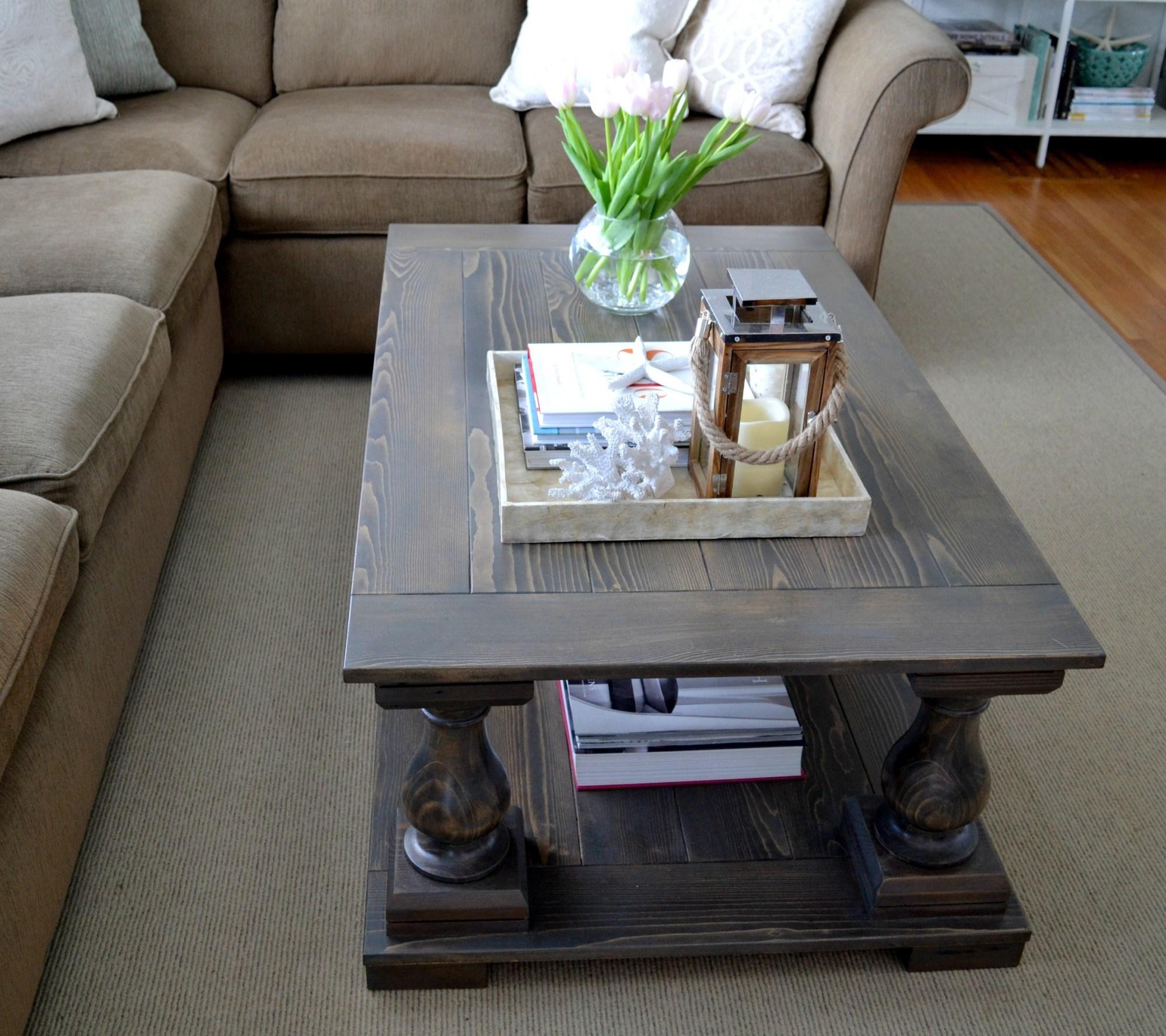 Restoration Hardware Balustrade Coffee Table Knockoff Toni Schefer Design