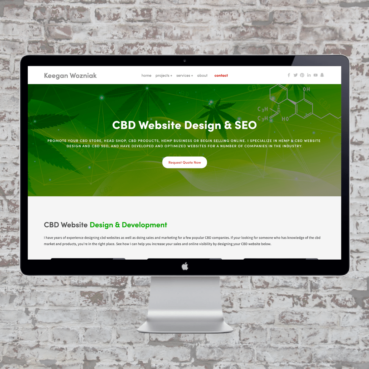 CBD Website Design & SEO | Keegan Wozniak