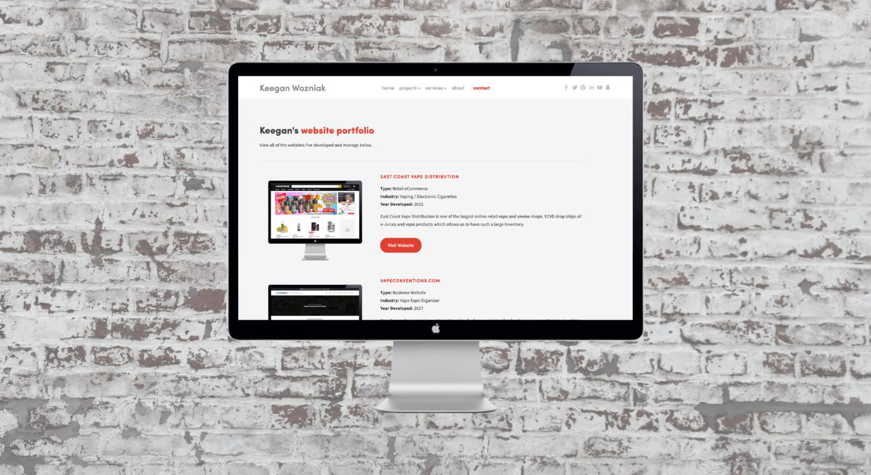 Website & Online Store Design Portfolio | Keegan Wozniak