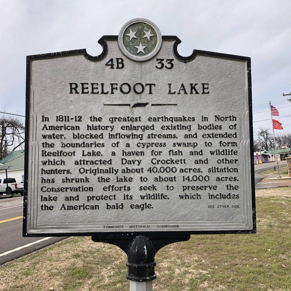 Reelfoot Lake Marker Front, Tiptonville, TN.jpg