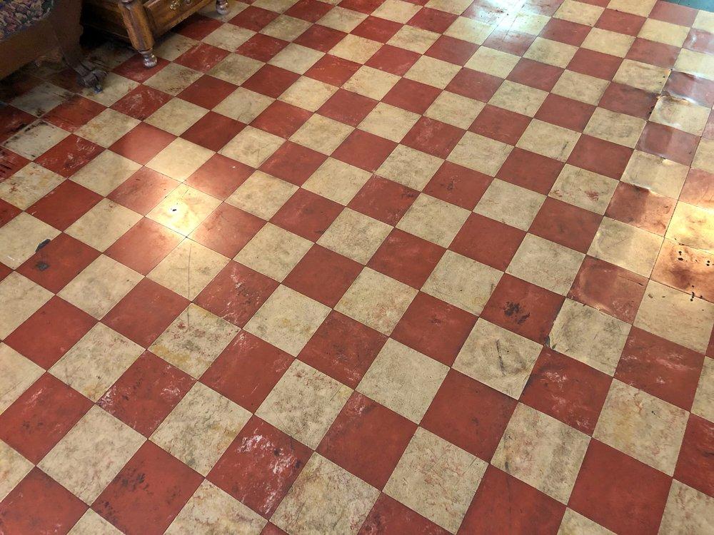 Hospital's original Italian tile floor
