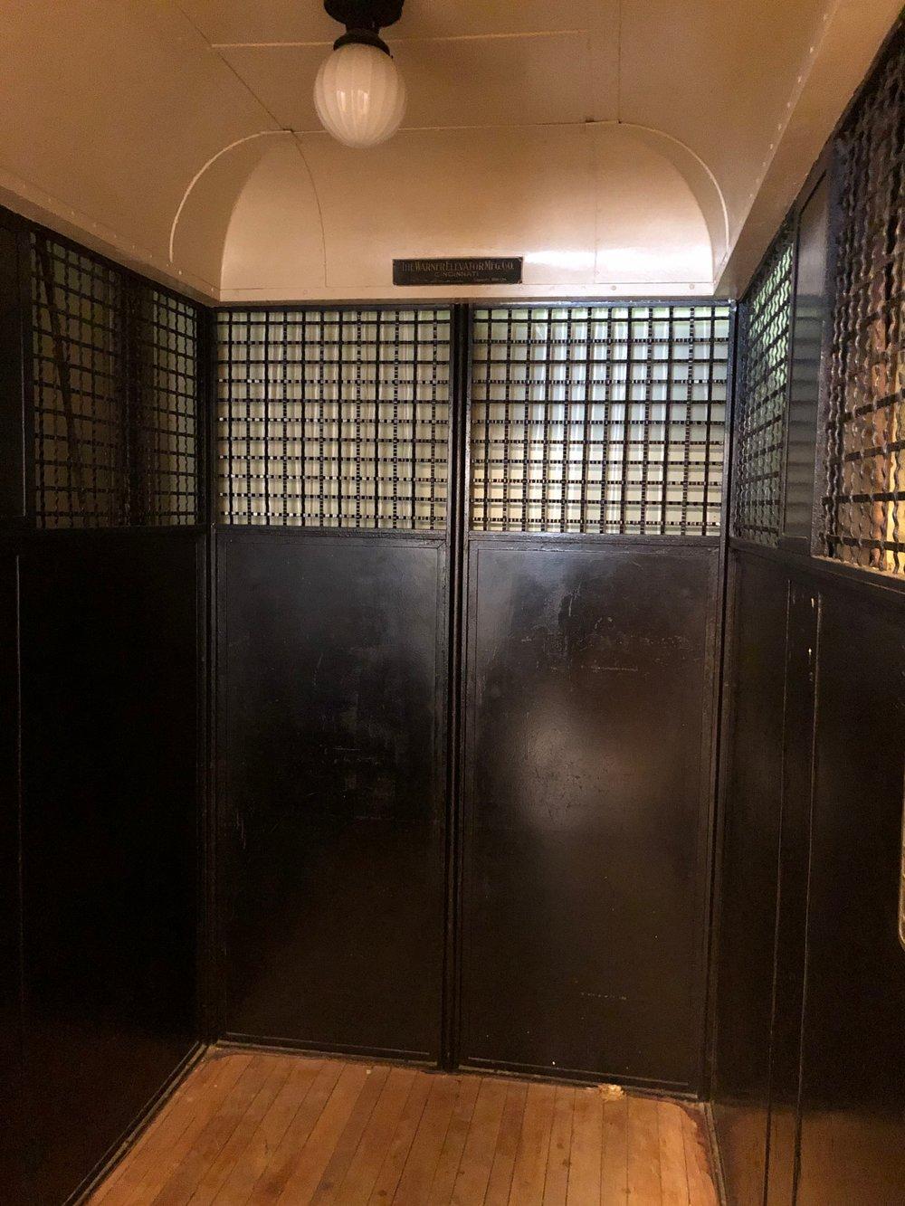 Elevator original to hospital. Still in working order.