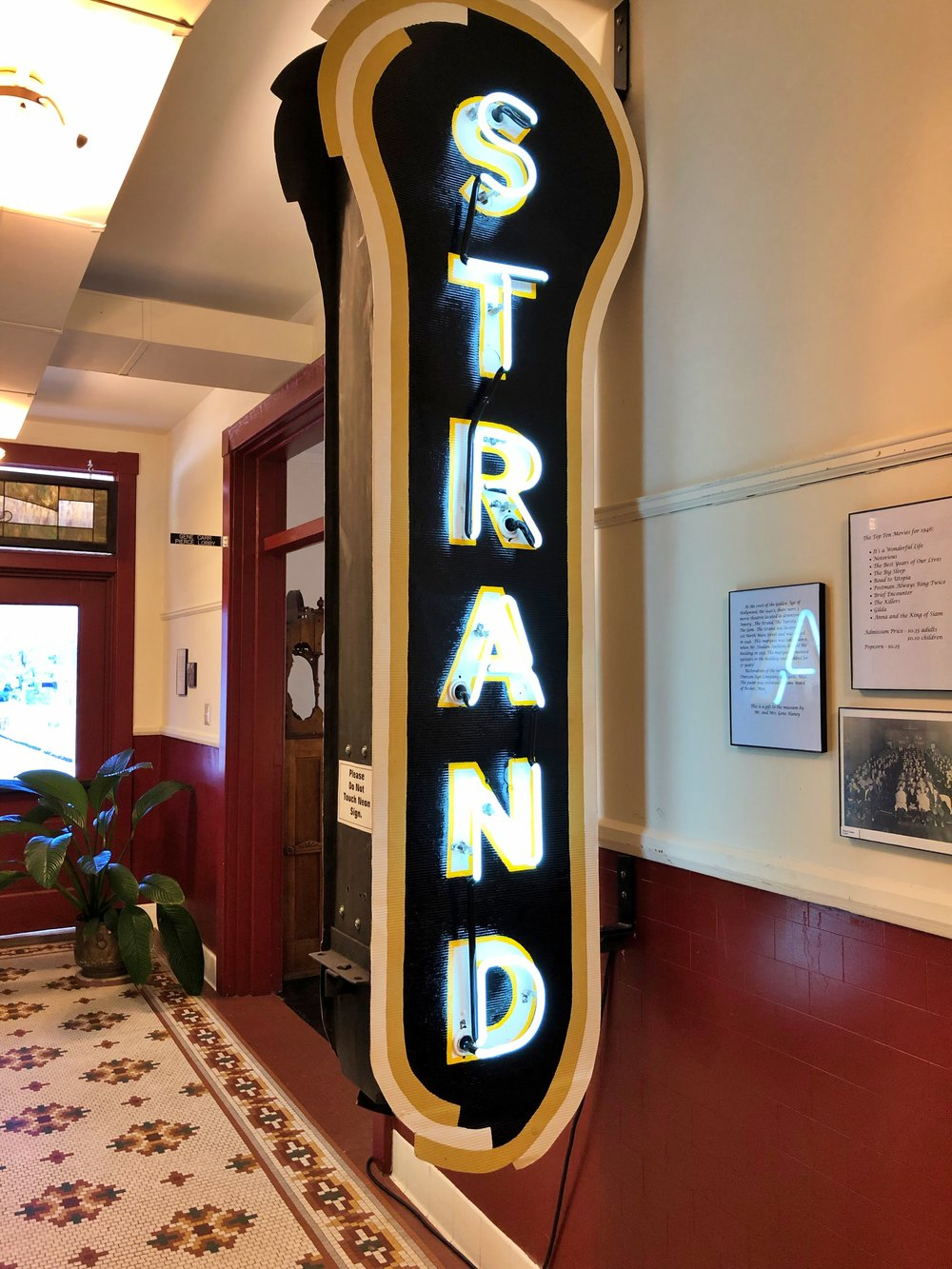 Marquis from the old Strand Theater in Amory