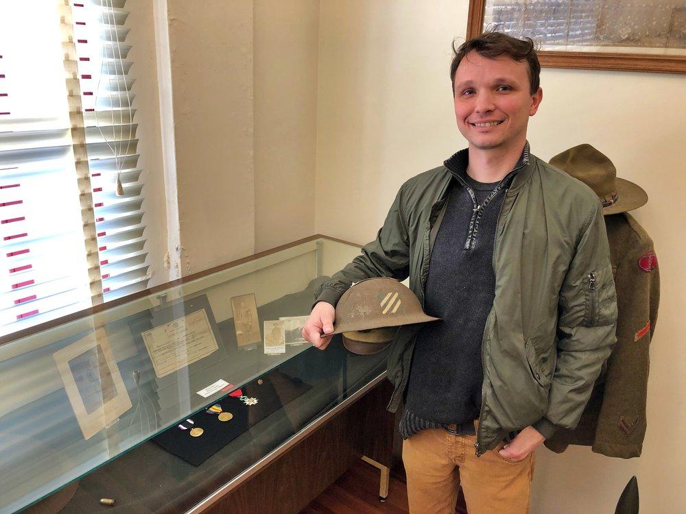 Amory Regional Museum Director Wayne Knox in the Military Exhibit Room