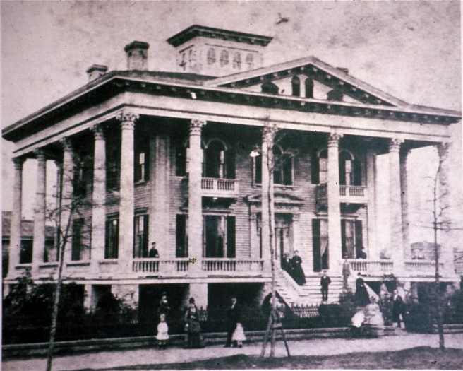 Bellamy Mansion in 1873 … Courtesy of Bellamy Mansion Museum of History and Design Arts