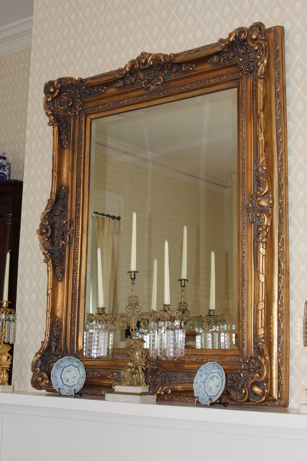 """mirror originally used in a New Orleans """"house of ill repute"""""""