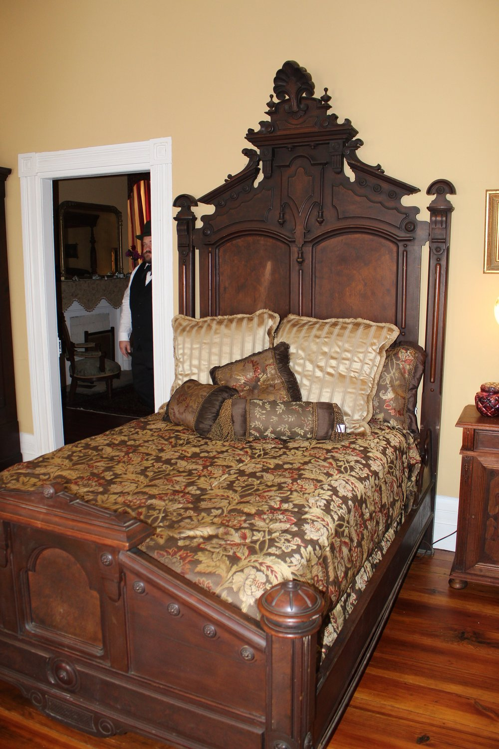 This bed was used by the owner in the 1860s and has been in the house ever since.