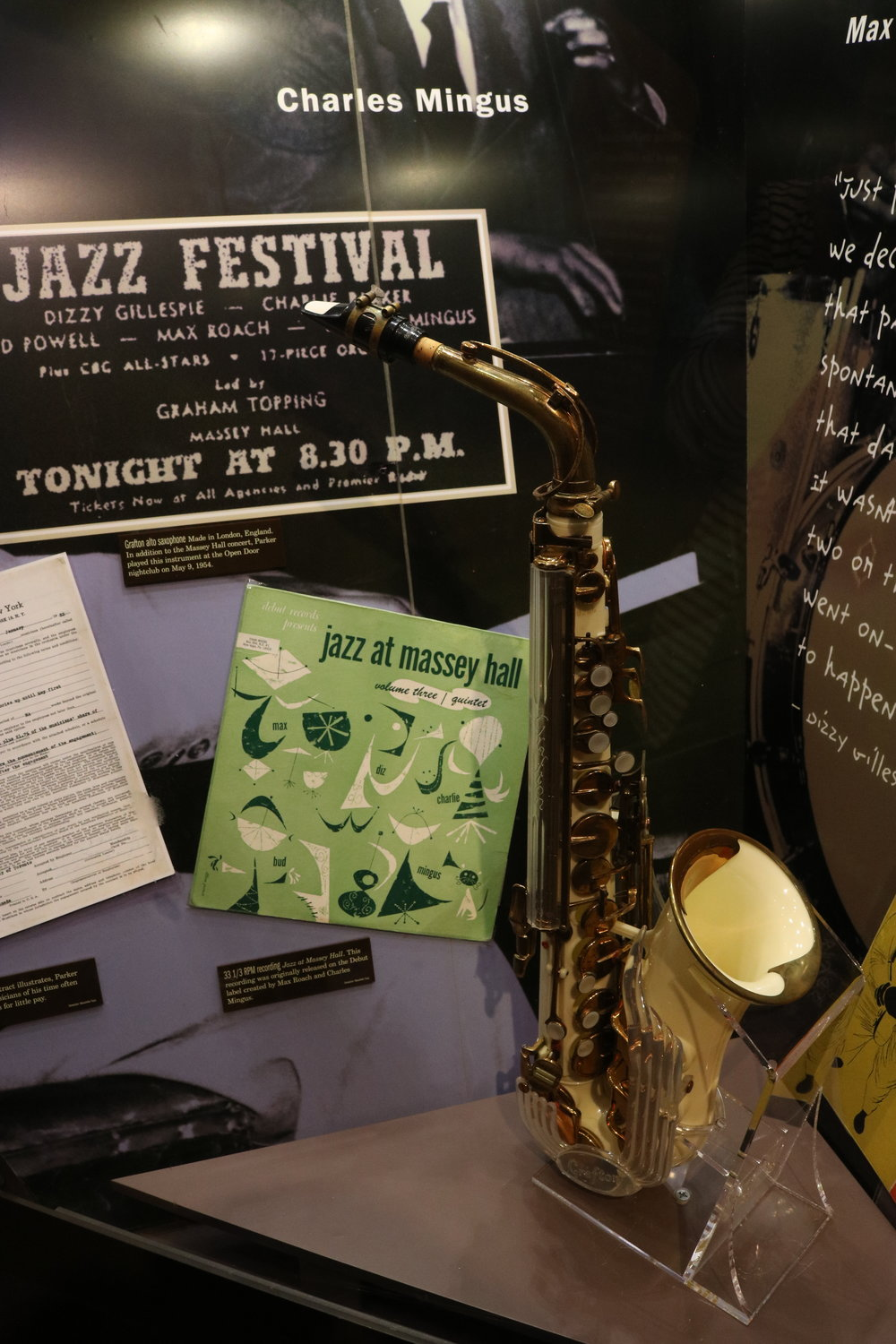 Charlie Parker's saxophone … Courtesy of the American Jazz Museum