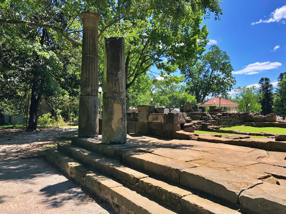 Ruins of the old state capitol built in 1826 … Photo by Caroline Pugh