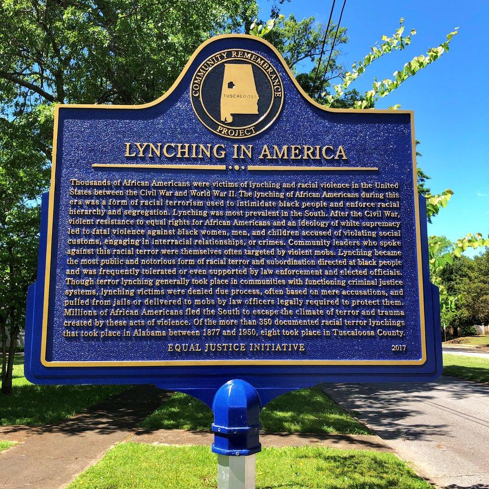Side 1 of marker outside Old Tuscaloosa County Jail … Photo by Caroline Pugh