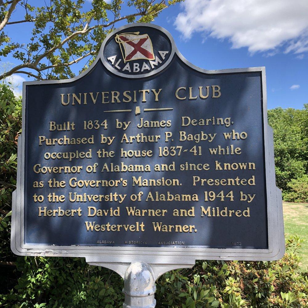 University Club Marker, Univ of AL … Photo by Caroline Pugh
