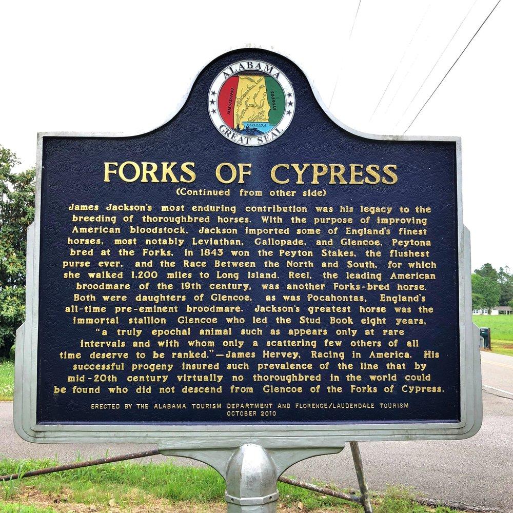 Forks of Cypress Marker, Side 2, Florence, AL.JPG