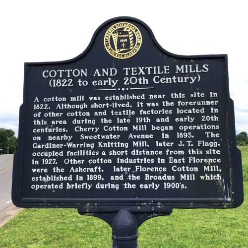 Cotton and Textile Mills Marker, Florence, AL.JPG