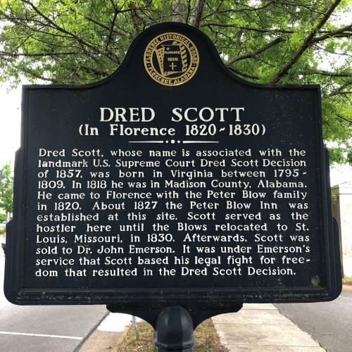 Dred Scott Marker, Florence, AL.JPG