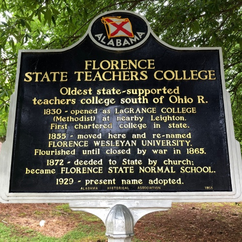 Florence State Teachers College Marker, Florence, AL.JPG
