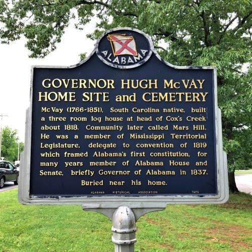 Governor Hugh McVay Home Site and Cemetery Marker, Florence, AL.JPG
