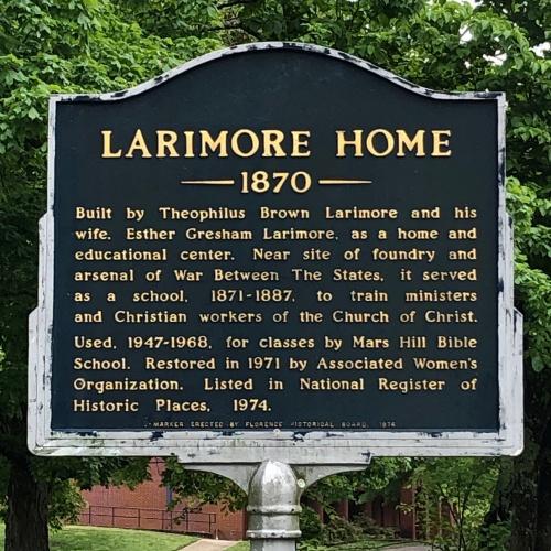 Larimore Home Marker, Florence, AL.JPG