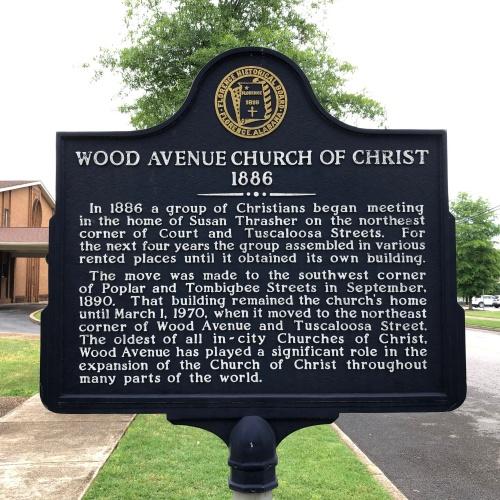 Wood Avenue Church of Christ Marker, Florence, AL.JPG