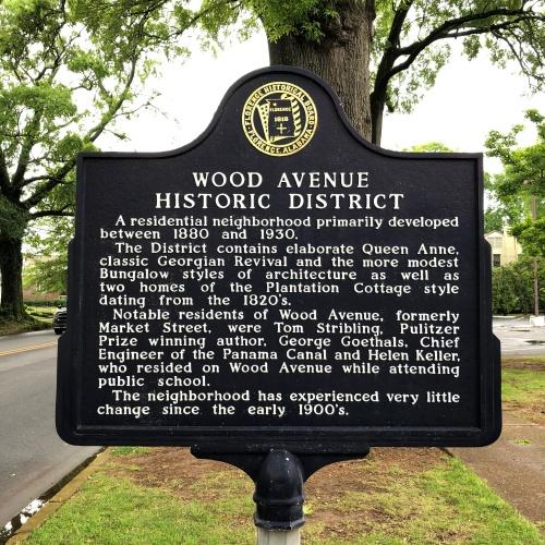 Wood Avenue Historic District Marker, Florence, AL.JPG