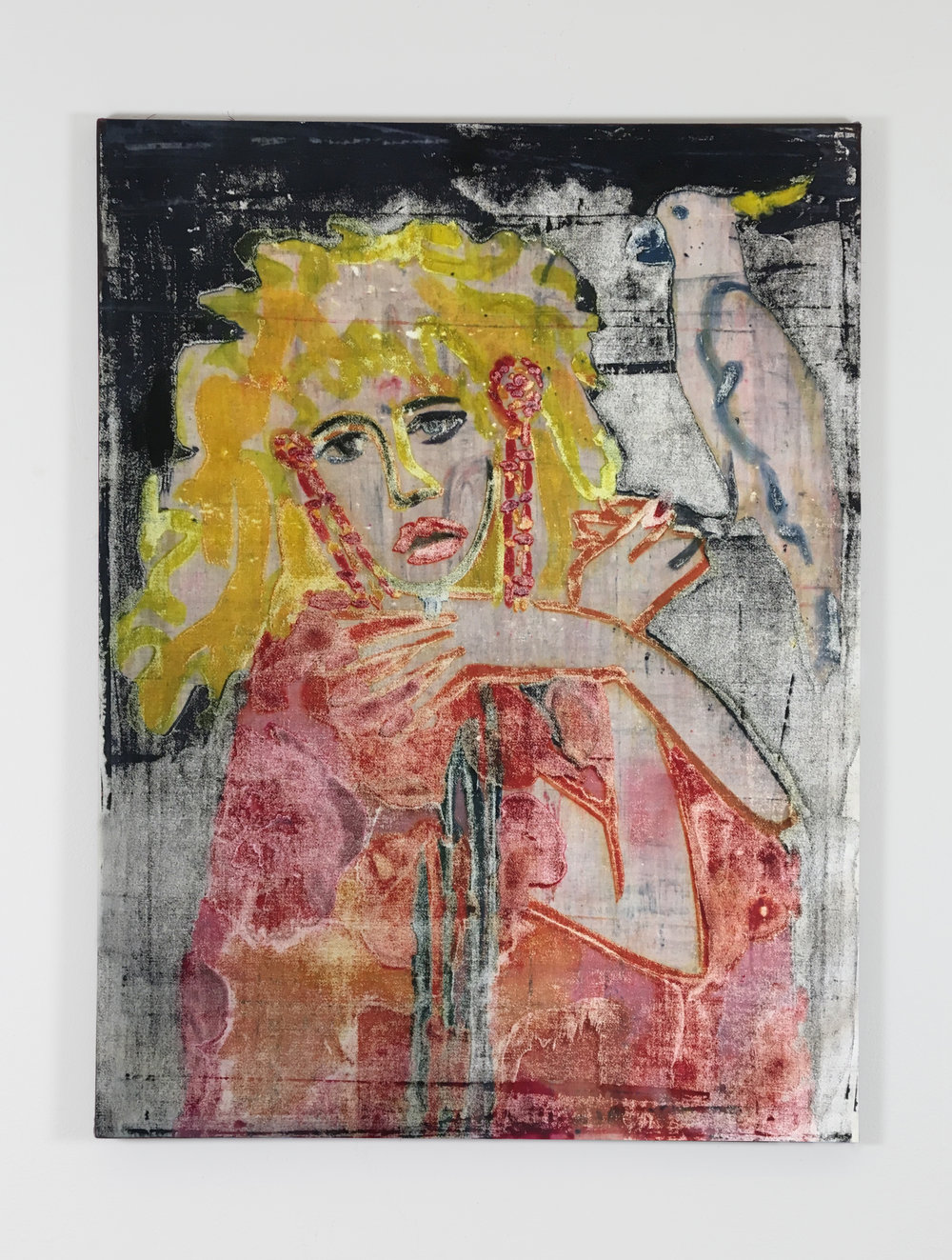 Stevie,  mono printed dye on canvas, 44 in. x 36 in., 2017