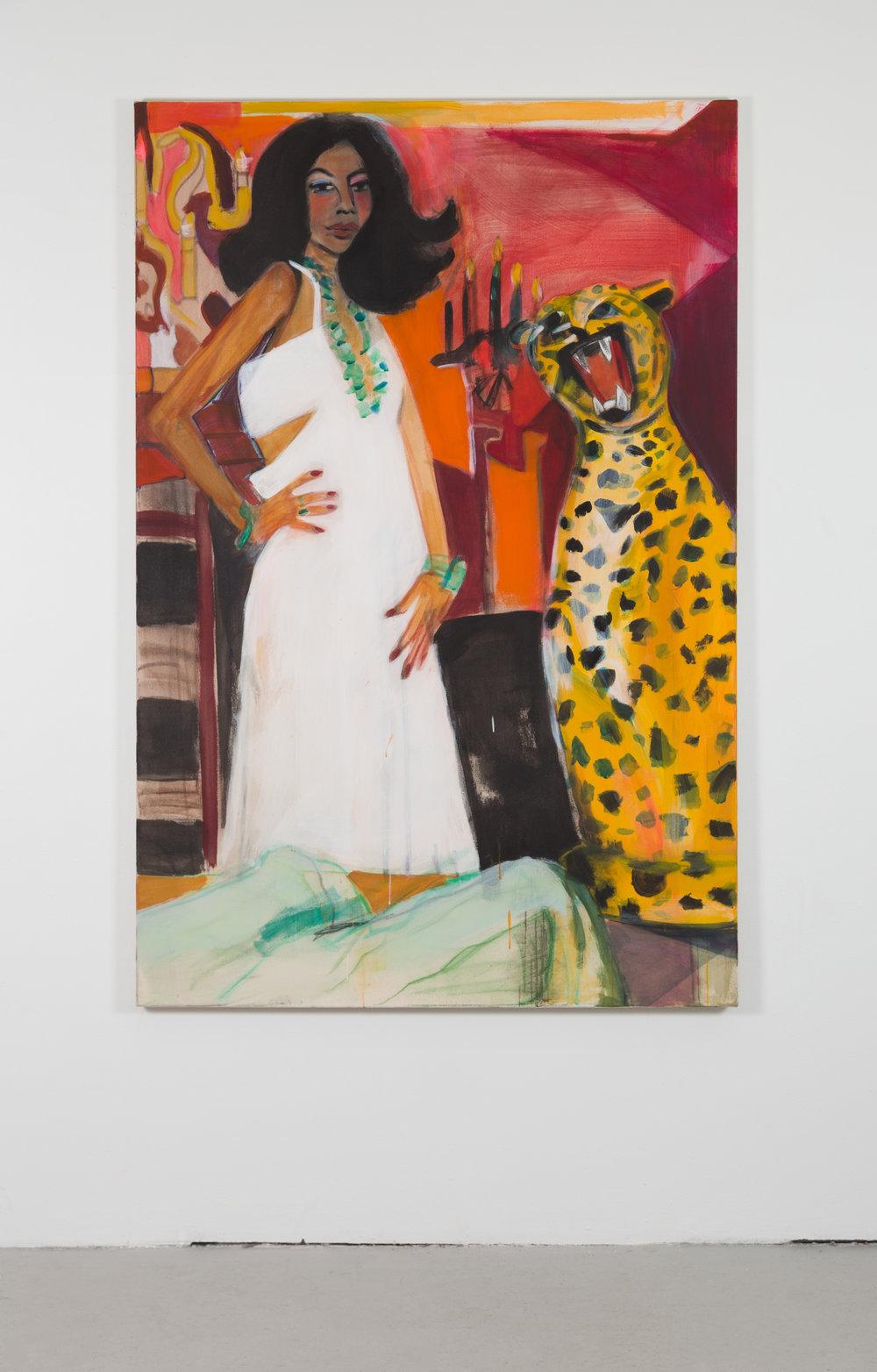 Diana circa 1979 , distemper on canvas, 72 in. x 48 in., 2017