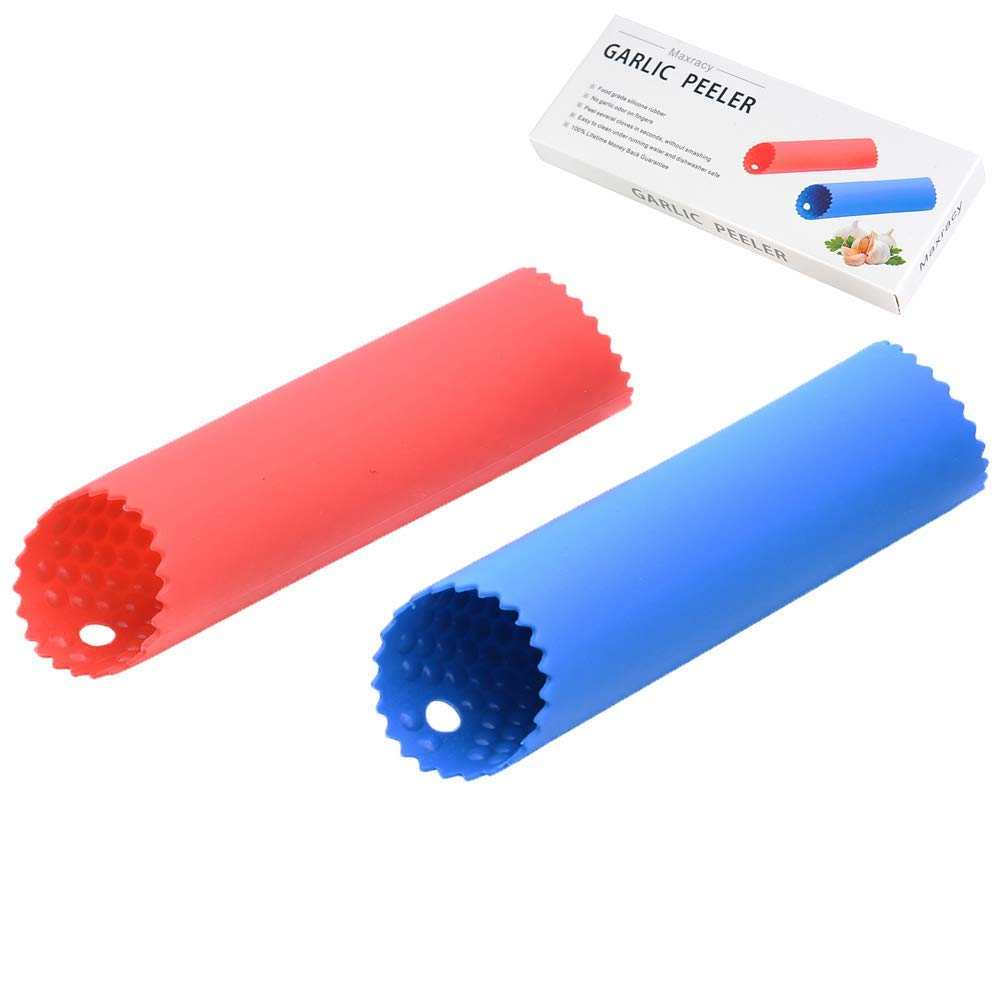 Maxracy 2 Set Garlic Peeler Silicone Easy Roll Tube Useful Garlic Odorfree Kitchen Tool -