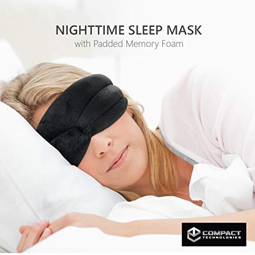 Nighttime Sleep Mask w/ Padded Memory Foam -
