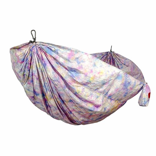 Grand Trunk Double Hammock: Print Parachute Nylon with Carabiners and Hanging Kit -